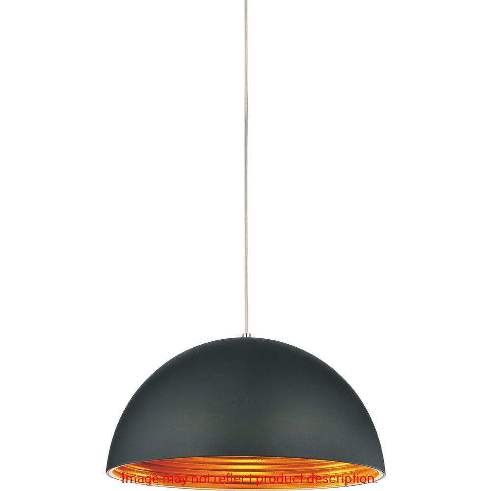 Modest 1-Light Black Pendant