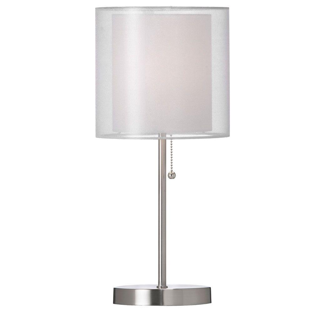 Cathrine 1 Light 18 in. White Table Lamp