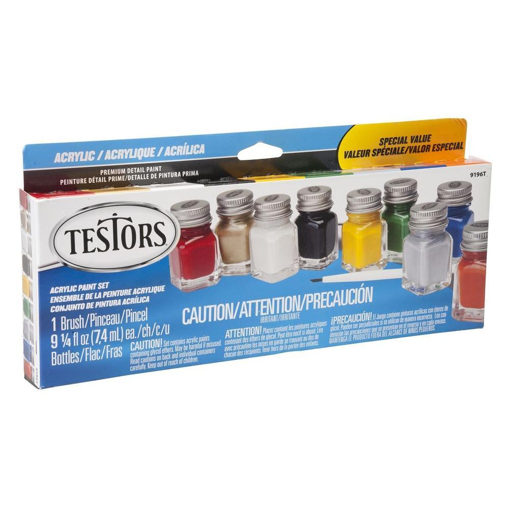 testors oz color most popular acrylic paint set