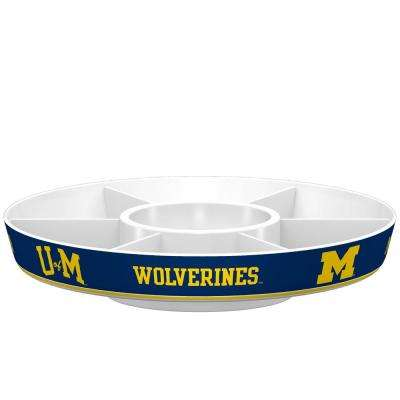 Michigan Wolverines Navy Melamine Party Platter