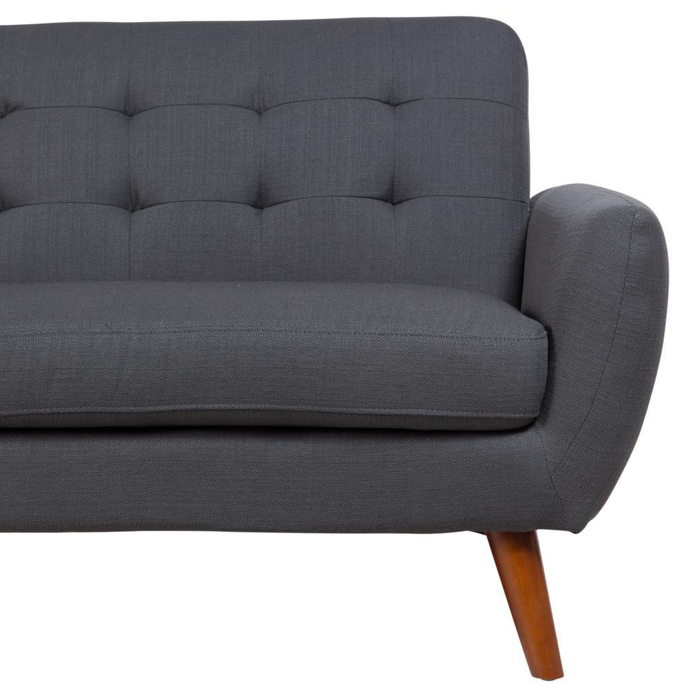 Daphne Gray Mid Century Modern Sofa
