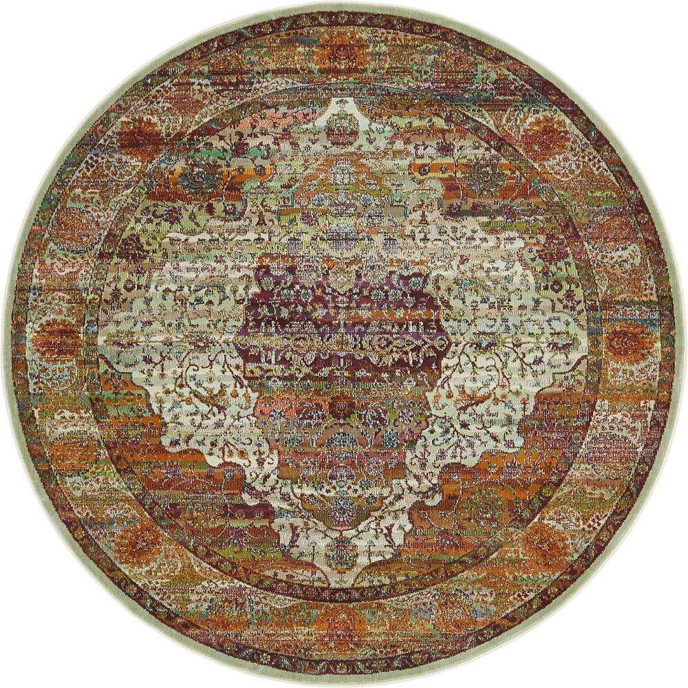 Havana Cream (Ivory) 5 ft. 5 in. x 5 ft. 5 in. Round Area Rug