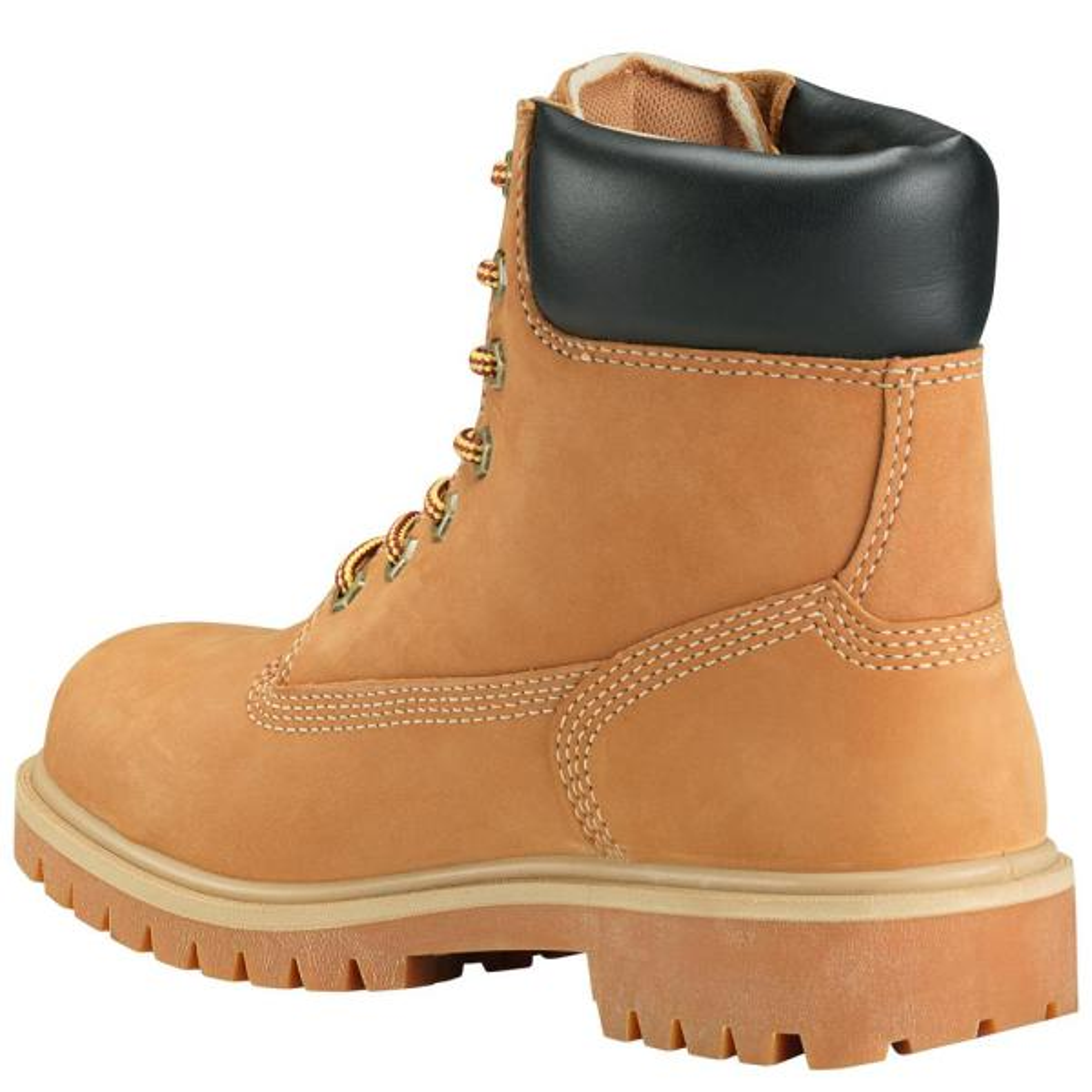 Work Boots - Steel Toe - Wheat Size 5.5