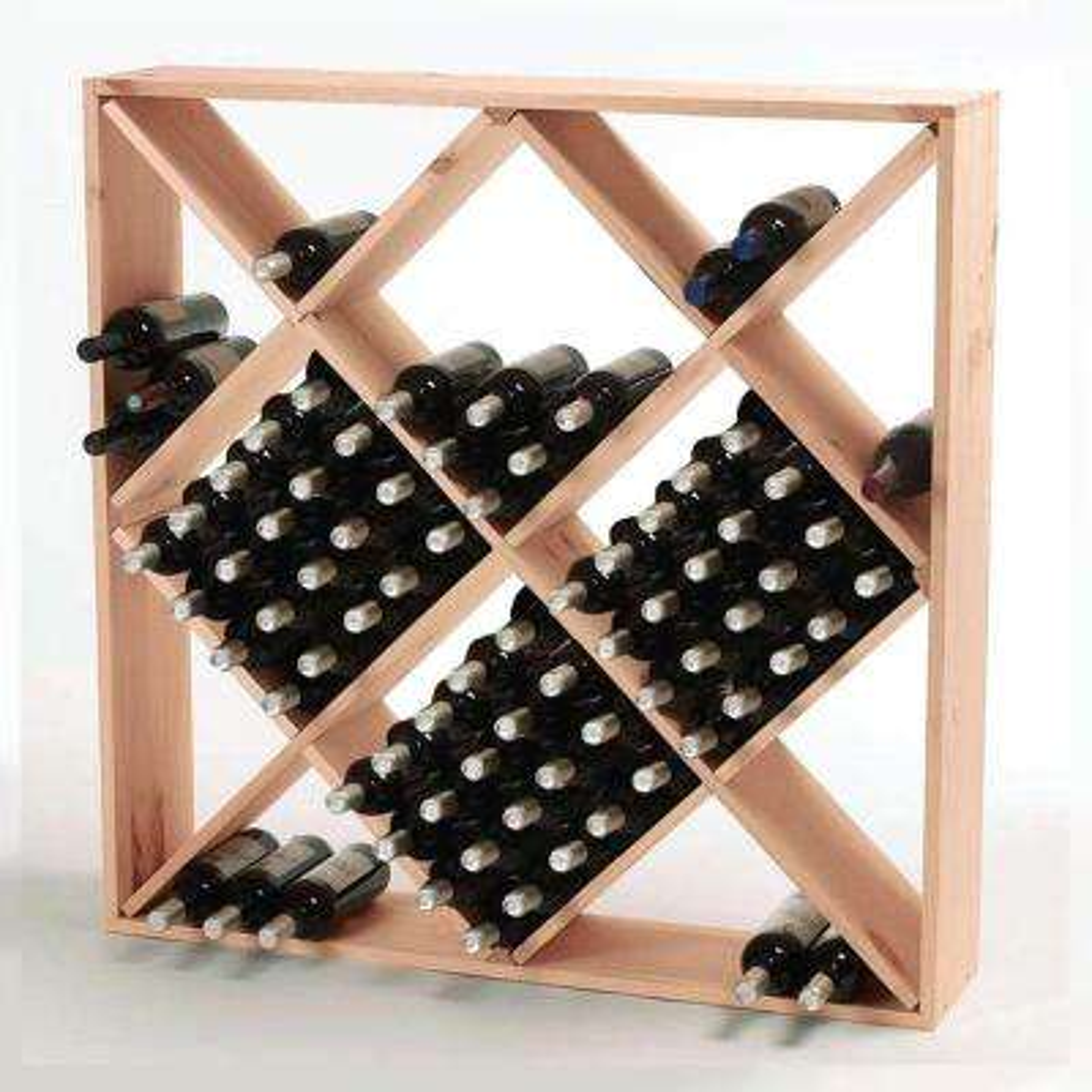 120-Bottle Natural Floor Wine Rack
