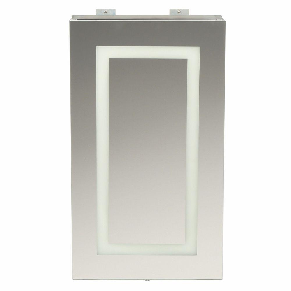 frameless surfacemount led mirror bathroom medicine cabinet with motion photocell sensorspa  the home depot. glacier bay  in x  in frameless surfacemount led mirror