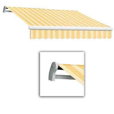 12 ft. LX-Maui Manual Retractable Acrylic Awning (120 in. Projection) in Almond Multi