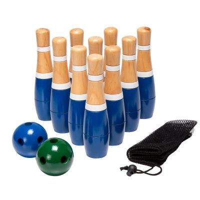 8 in. Wooden Lawn Bowling Set