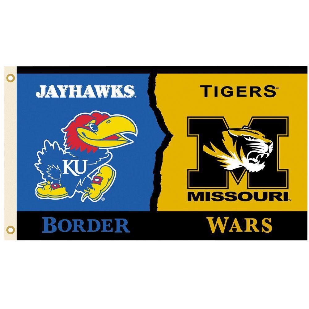 NCAA 3 ft. x 5 ft. Kansas/Missouri Rivalry House Divided Flag