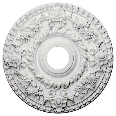 18 in. x 3-1/2 in. ID x 1-1/2 in. Rose Urethane Ceiling Medallion (Fits Canopies upto 7-1/4 in.)