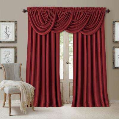 Blackout All Seasons 52 in. W x 84 in. L, Single Panel Blackout Rod Pocket Window Curtain Drape Regal Solid, Rouge