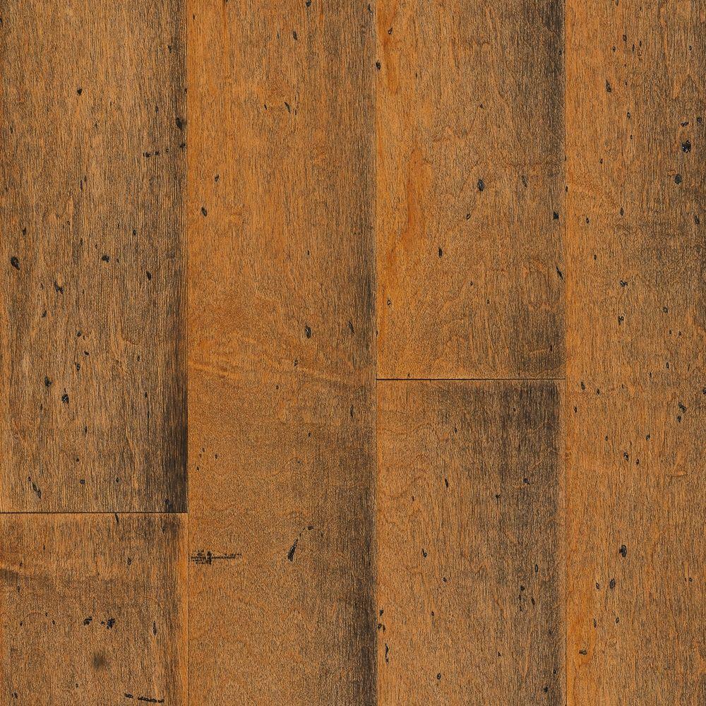 Maple Hardwood Flooring: Home Legend Hand Scraped Maple Durham 3/8 In. T X 5-1/4 In