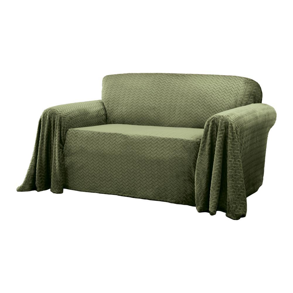 Mason Green Furniture Throw Loveseat