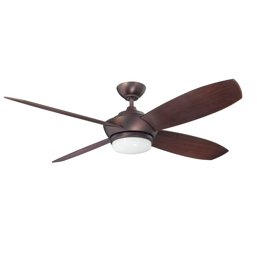 Zeta 52 in. Oil Brushed Bronze Ceiling Fan