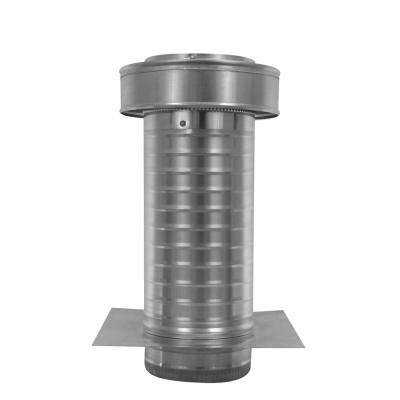 6 in. Dia. Aluminum Keepa Ducted Vent with Tail Pipe in Mill Finish