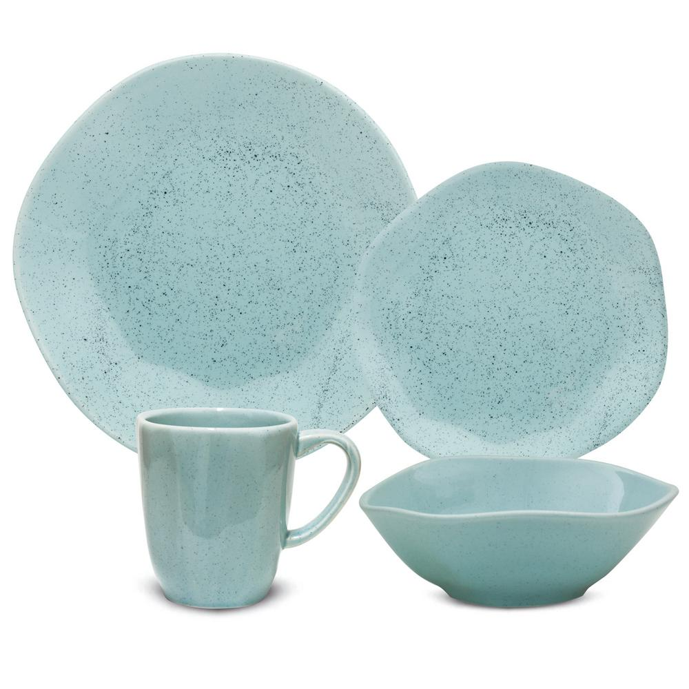 Manhattan Comfort RYO 16-Piece Casual Light Blue Porcelain Dinnerware Set (Service for 4) was $179.99 now $114.63 (36.0% off)