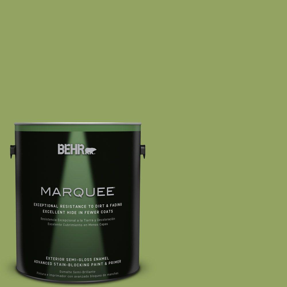 BEHR MARQUEE Home Decorators Collection 1-gal. #HDC-MD-15 Zesty Apple Semi-Gloss Enamel Exterior Paint