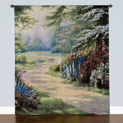 Semi-Opaque Endless Summer 84 in. L Polyester/Cotton Window Art Panel Pair