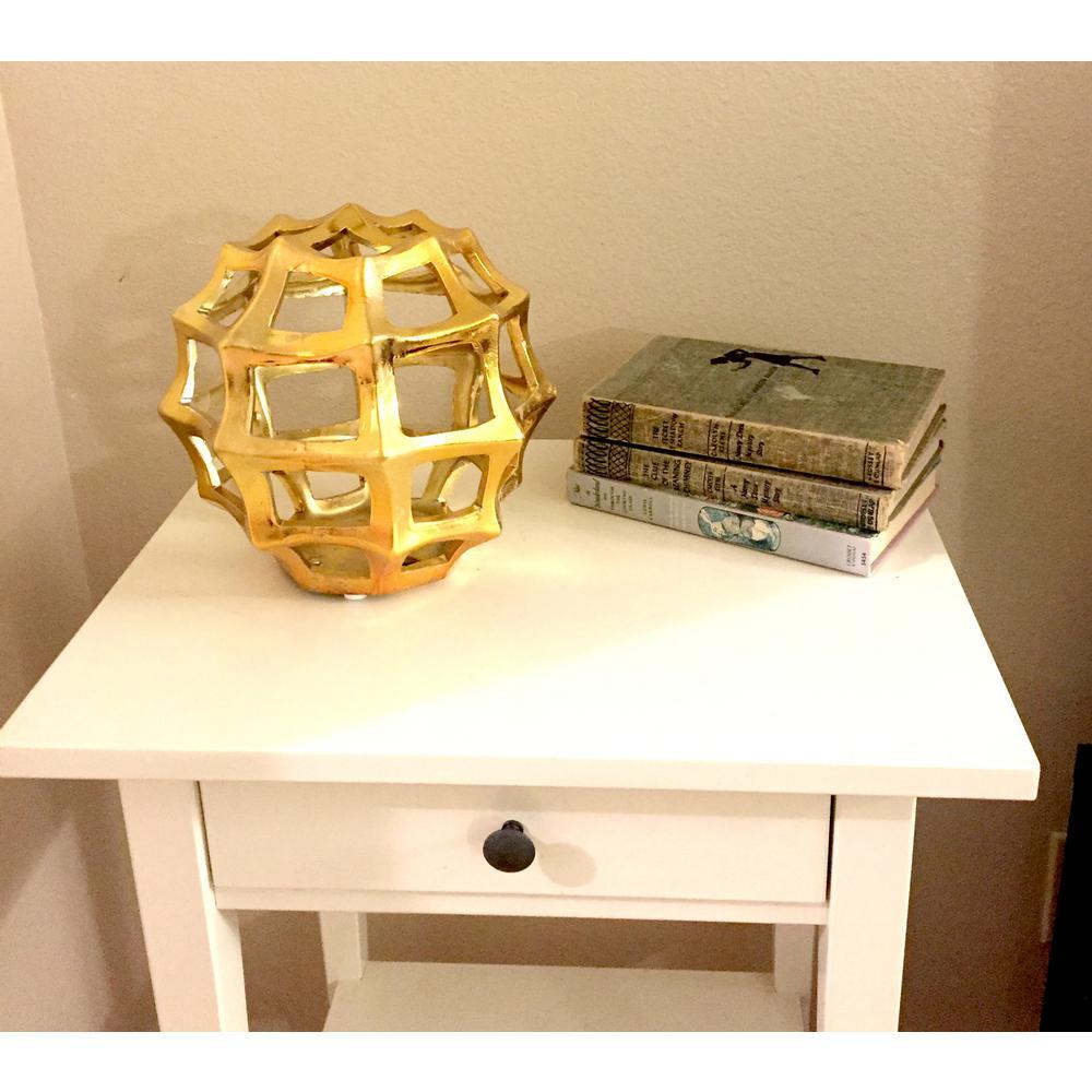 8.5 in. x 8 in. Gold Ceramic Orb