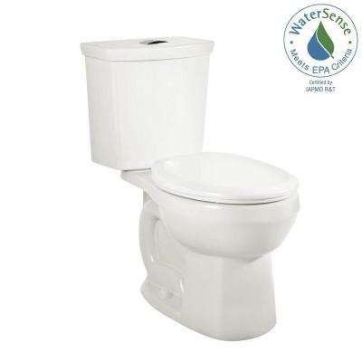 H2Option 2-Piece 0.92/1.28 GPF Dual Flush Elongated Toilet in White