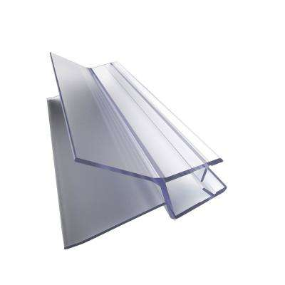 42 in. L Clear Bottom Vinyl Sweep with a Deflector for 3/8 in. Glass Shower Door