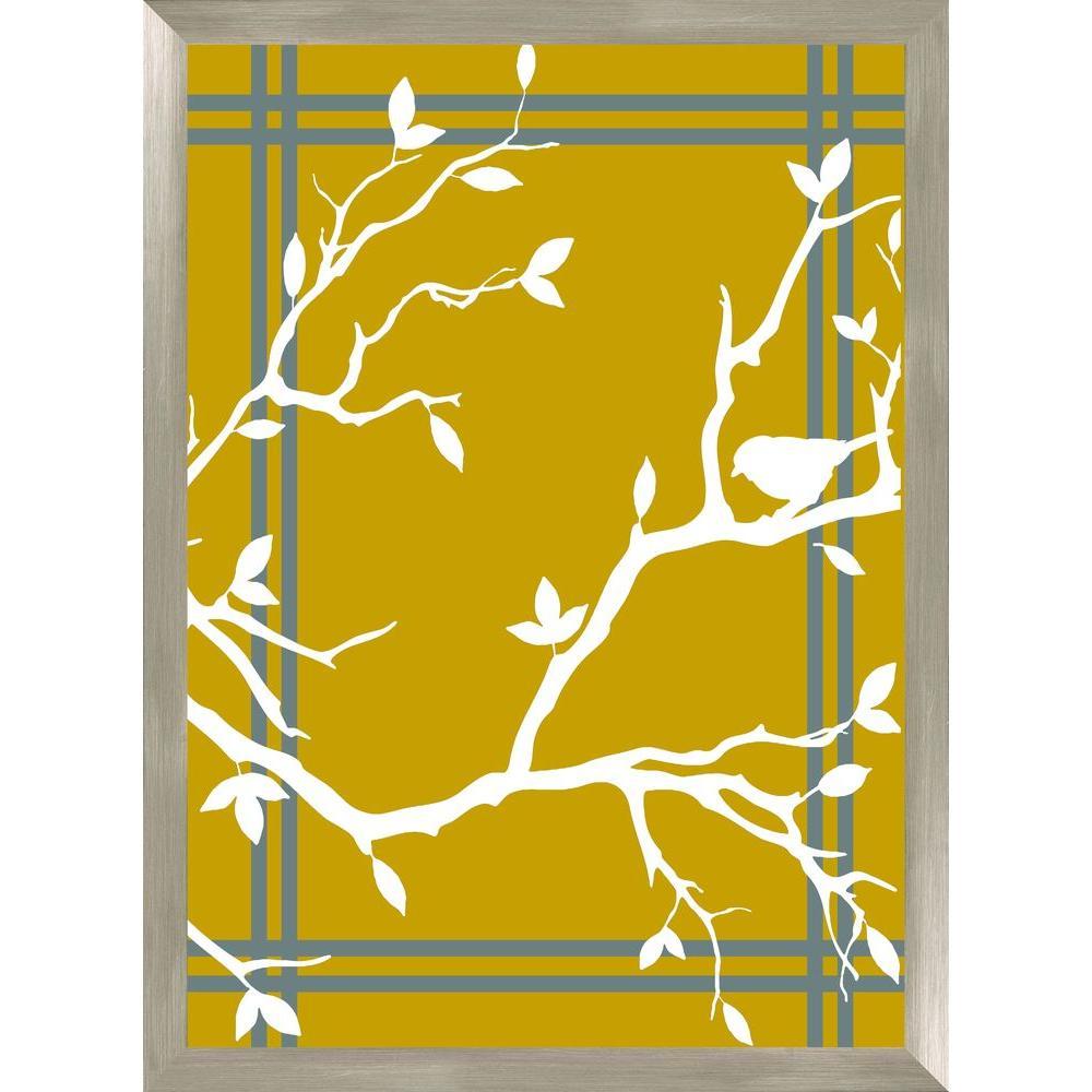 """30-1/2 in. x 22-1/2 in. """"Tree Branch B"""" Framed Wall Art"""