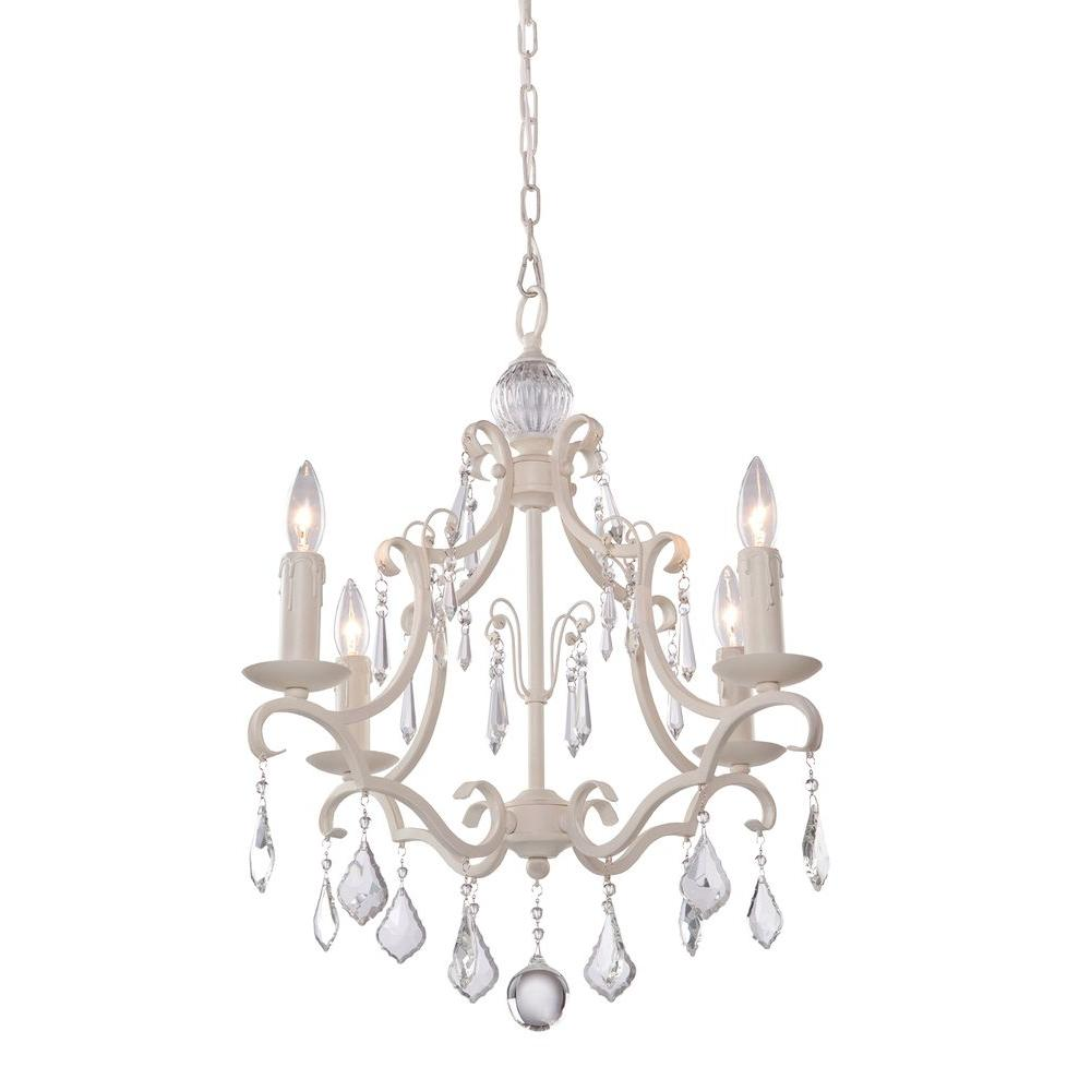 Artcraft vintage vieira 4 light antique white chandelier