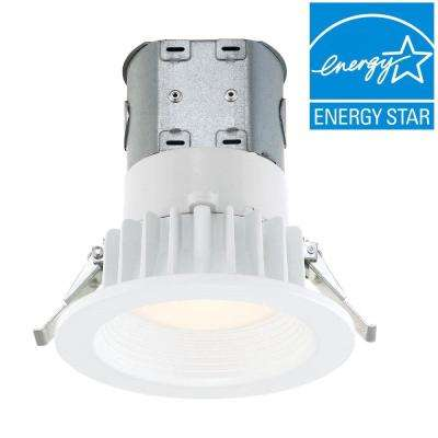 Easy Up w/Direct Wire J-Box 4 in. White Integrated LED Recessed Kit, 3500K