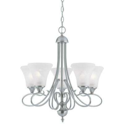 Elipse 5-Light Brushed Nickel Chandelier