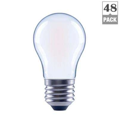 60-Watt Equivalent A15 Dimmable Frosted Glass Decorative Filament Vintage Edison LED Light Bulb Daylight (48-Pack)