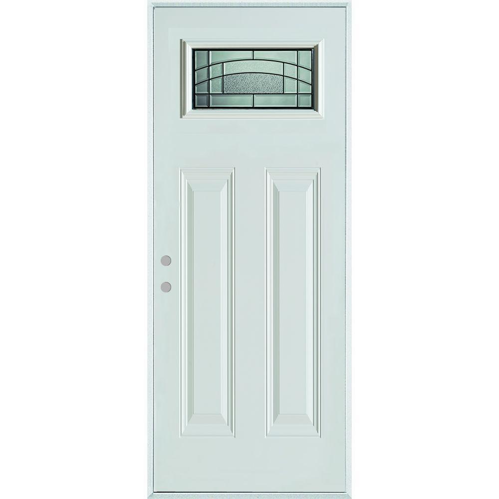 Home Depot Doors Exterior Steel: Stanley Doors 32 In. X 80 In. Chatham Patina Rectangular