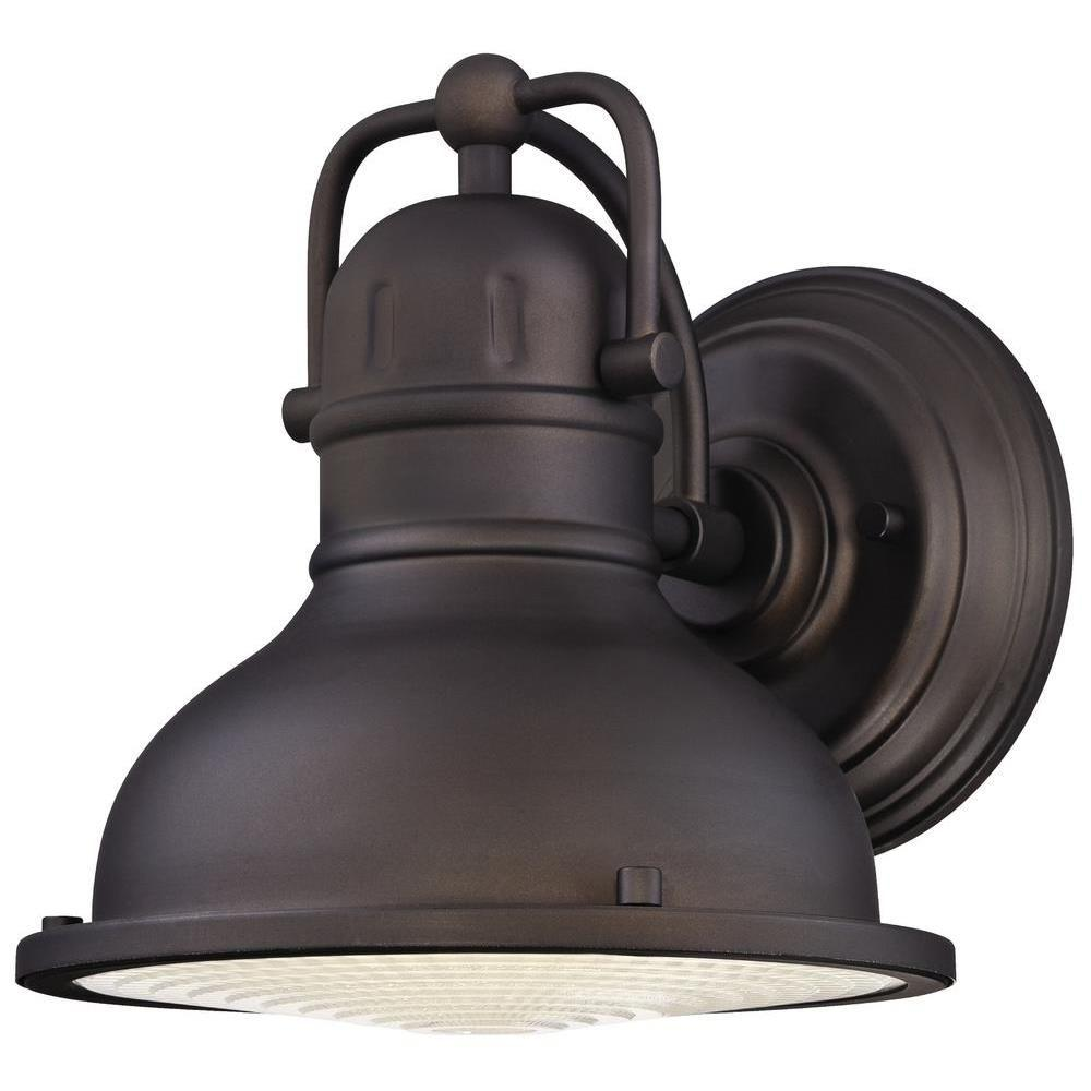 official photos 56223 02292 Westinghouse Orson 1-Light Oil Rubbed Bronze Outdoor Integrated LED Wall  Lantern Sconce