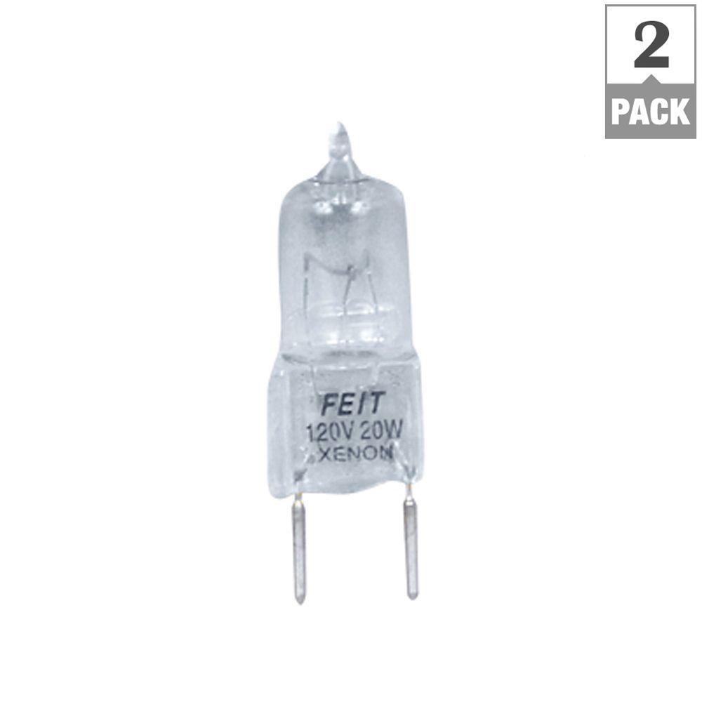 Xenon 20-Watt Halogen G8 Light Bulb (2-Pack)