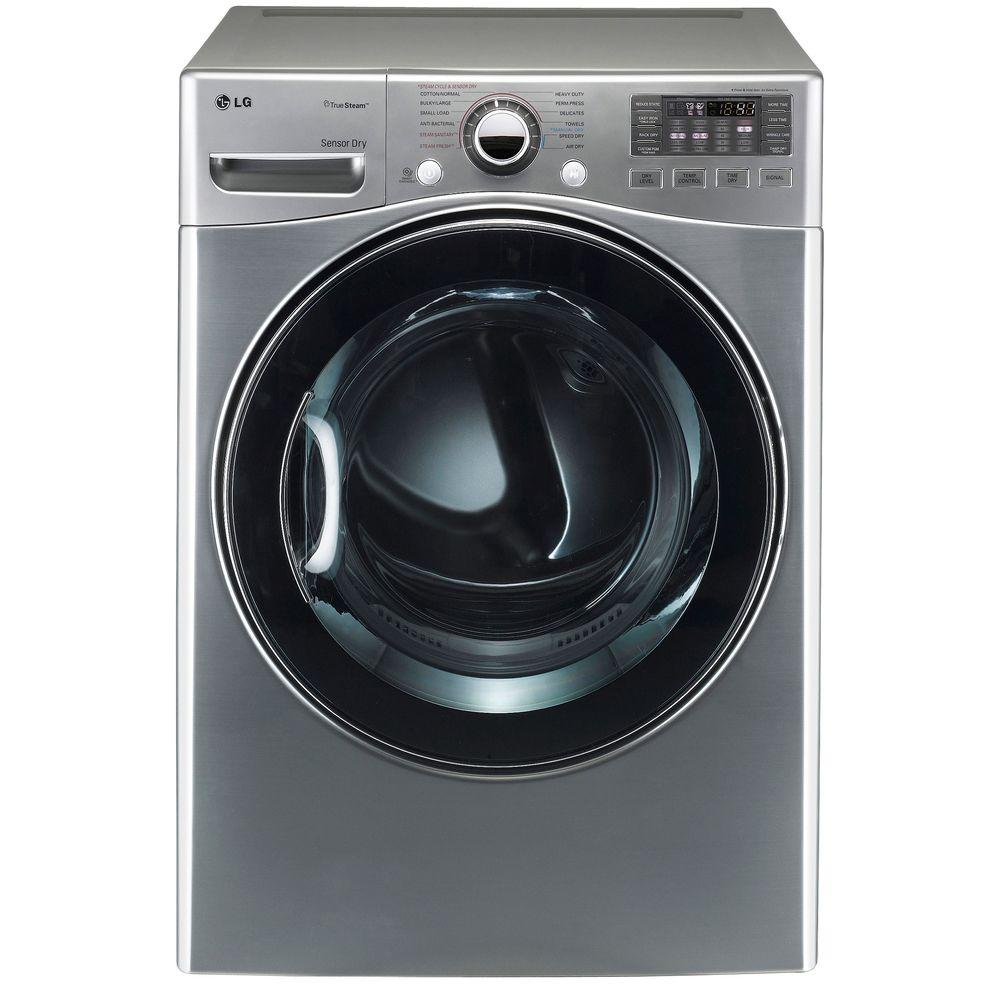 LG Electronics 7.3 cu. ft. Electric Dryer with Steam in Graphite Steel-DISCONTINUED