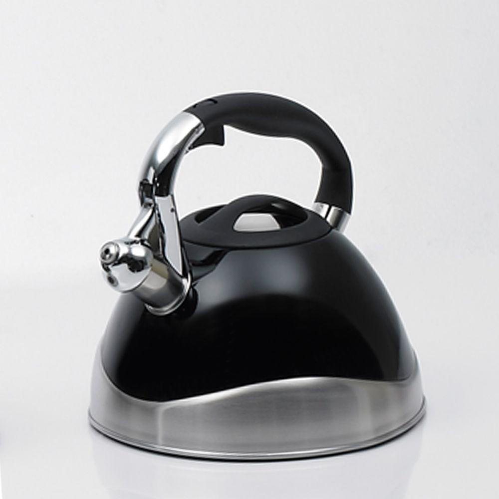 Crescendo 12.4-Cup Stovetop Tea Kettle in Black