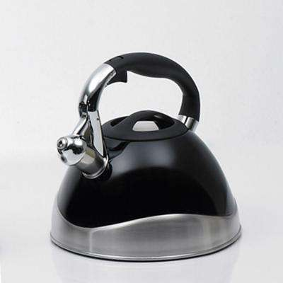 Crescendo 12.4-Cup Stovetop Tea Kettle in Black