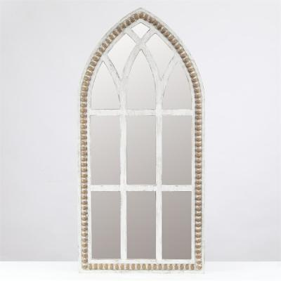 White Rustic Cathedral Wall Mirror