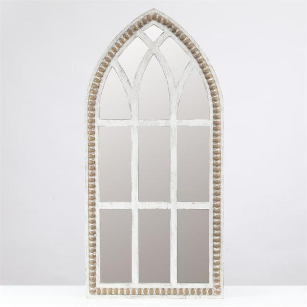 Medium Arch White Modern Mirror (39.4 in. H x 18.9 in. W)