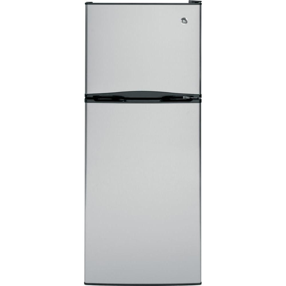GE 11.55 cu. ft. Top Freezer Refrigerator in Stainless Steel