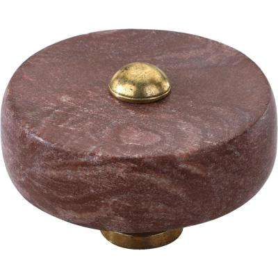 Tacoma 1-1/2 in. Textured Brown Cabinet Knob
