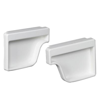 White Vinyl K-Style End Cap Set