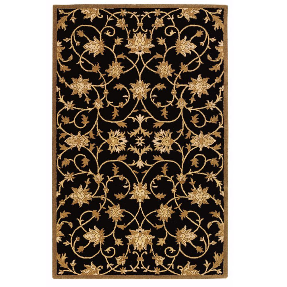 Home Decorators Collection Paloma Black/Gold 4 ft. x 6 ft. Area Rug