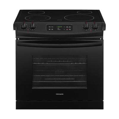 4.6 cu. ft. Drop-In Electric Range with Self-Cleaning in Black