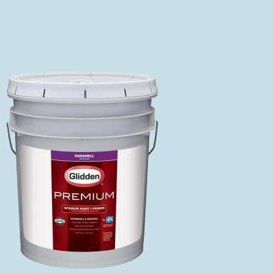 5 gal. #HDGB44U Crystal Blue Waters Eggshell Interior Paint with Primer