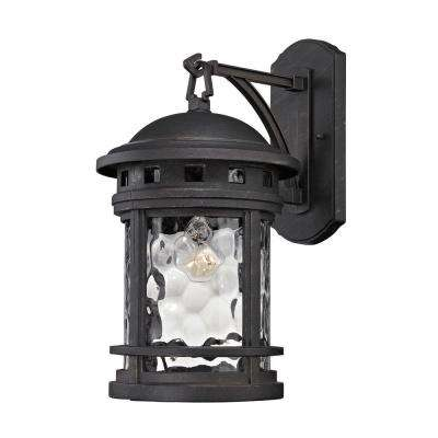 Costa Mesa 1-Light Weathered Charcoal Outdoor Wall Lantern