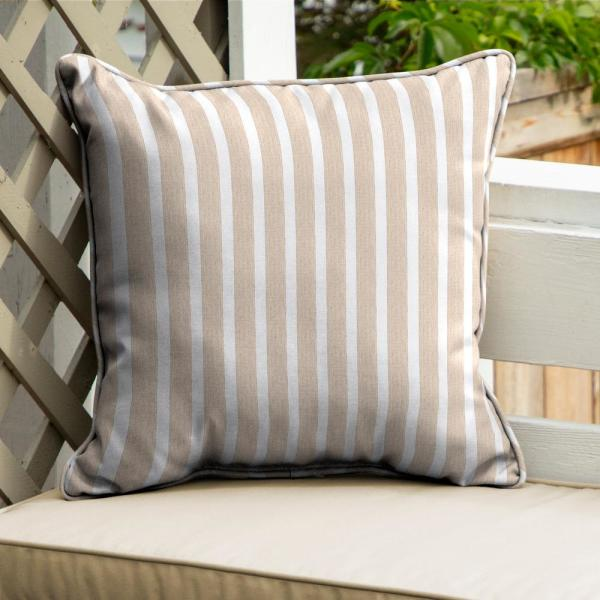 Home Decorators Collection Sunbrella Shore Linen Square Outdoor Throw Pillow 2 Pack Ah23558b D9d2 The Home Depot