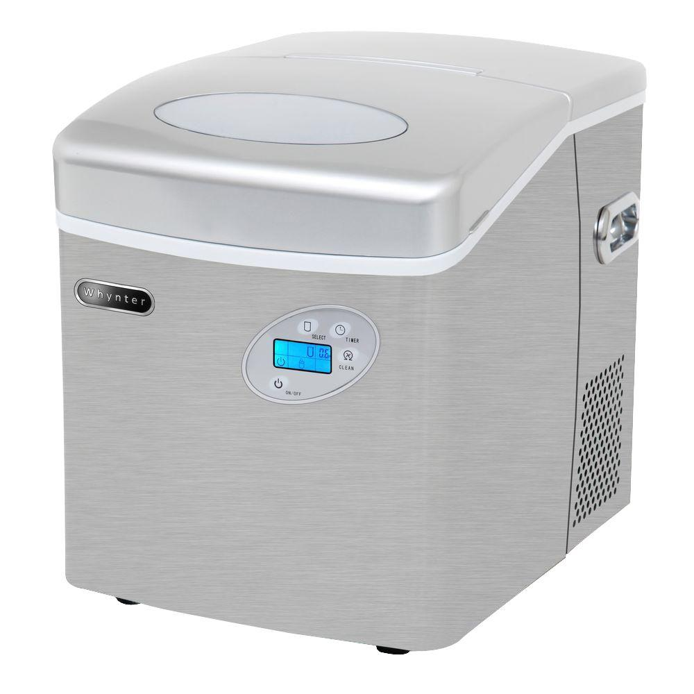Portable Ice Maker In Stainless Steel With Water Connection Imc 491dc The Home Depot