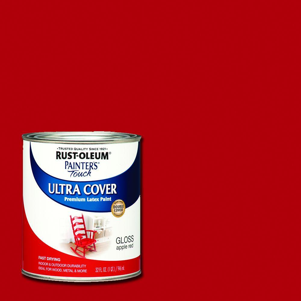 32 oz. Ultra Cover Gloss Apple Red General Purpose Paint (Case