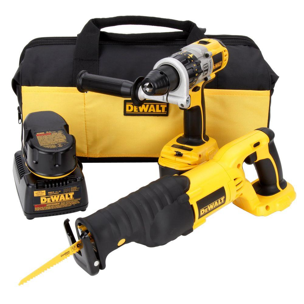 18-Volt XRP NiCd Cordless Hammer Drill/Reciprocating Saw Combo Kit (2-Tool) with