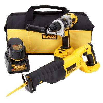 18-Volt XRP NiCd Cordless Hammer Drill/Reciprocating Saw Combo Kit (2-Tool) with (2) Batteries 2.4Ah, Charger and Bag