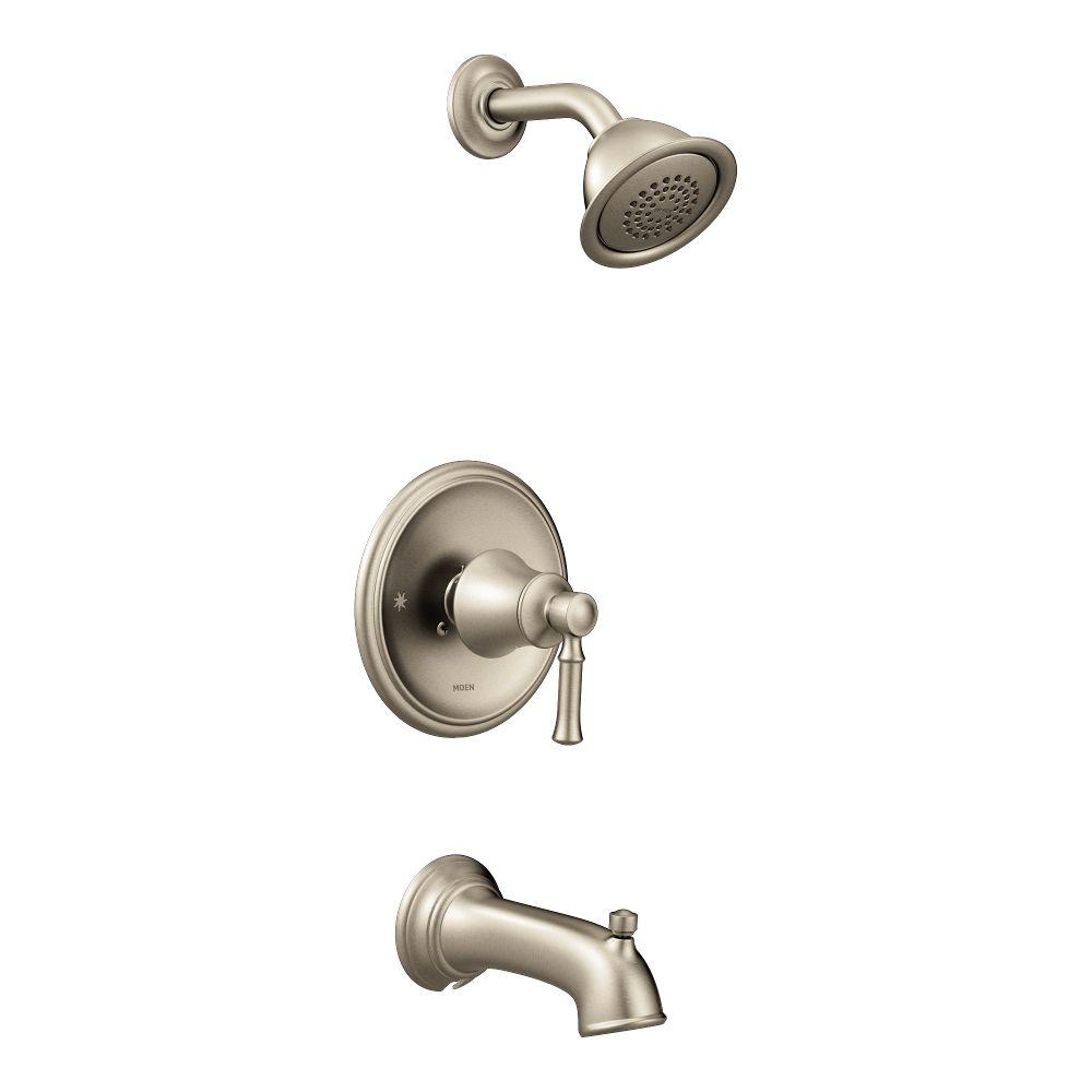 Moen Dartmoor Posi Temp 1 Handle Wall Mount Tub And Shower Faucet